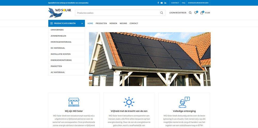 WD Solar homepagina