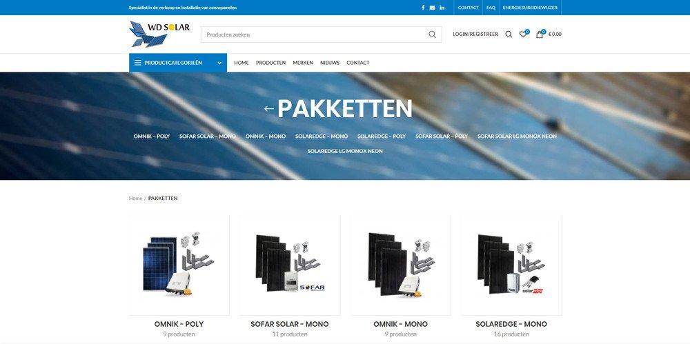WD Solar webshop